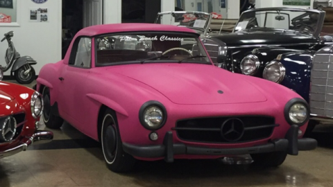Pink 1961 Mercedes-Benz W121 190SL for sale