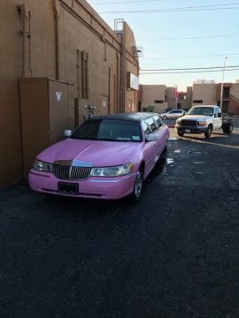 Pink 1998 Lincoln Town Car Stretched Limousine for sale