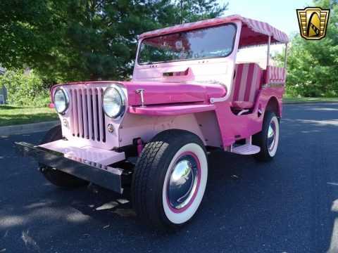 1947 Willys Jeep Surrey Gala Pink for sale
