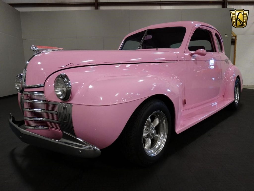 Pink 1940 Oldsmobile Coupe