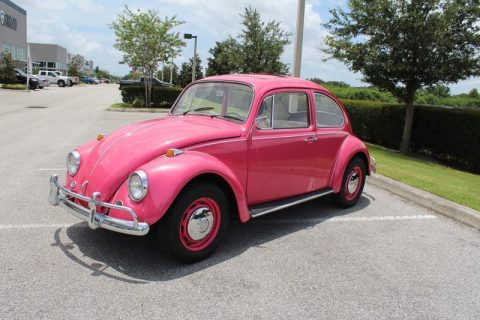 Pink 1967 Volkswagen Beetle for sale