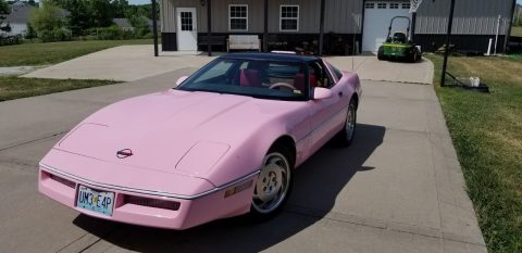Pink 1987 Chevrolet Corvette for sale